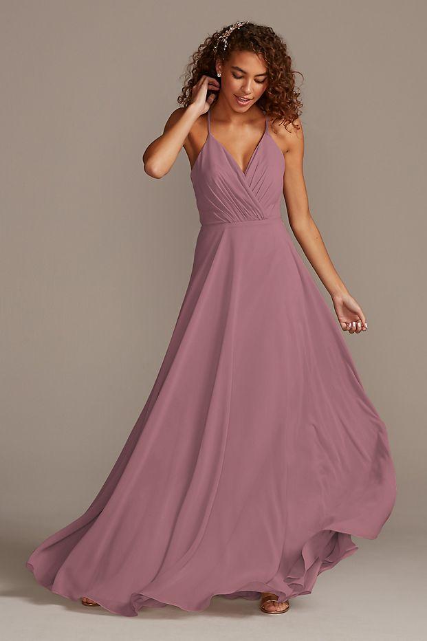 Spaghetti Strap Full Skirt Bridesmaid Dress