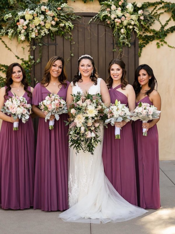 Bridal Party in Purple dresses