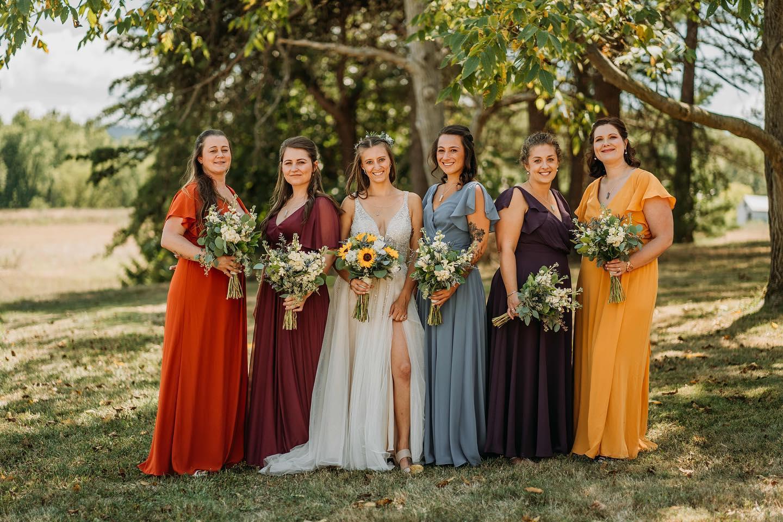 Flutter Sleeve Full Skirt Bridesmaid Dress