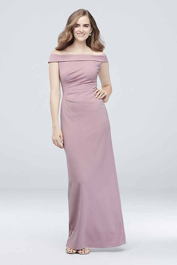 Ruched Off-the-Shoulder Bridesmaid Dress