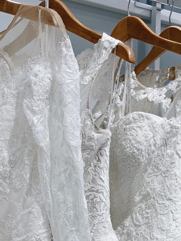 Wedding Dresses on a Rack