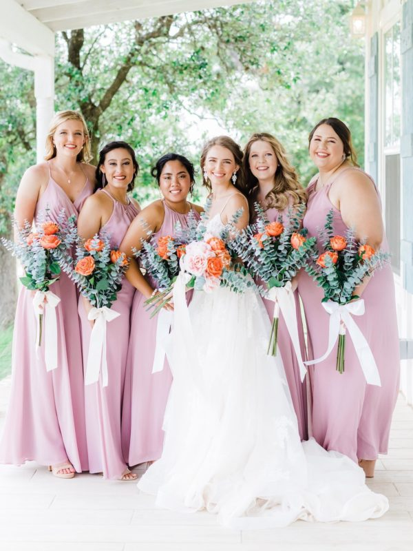 pastel wedding party