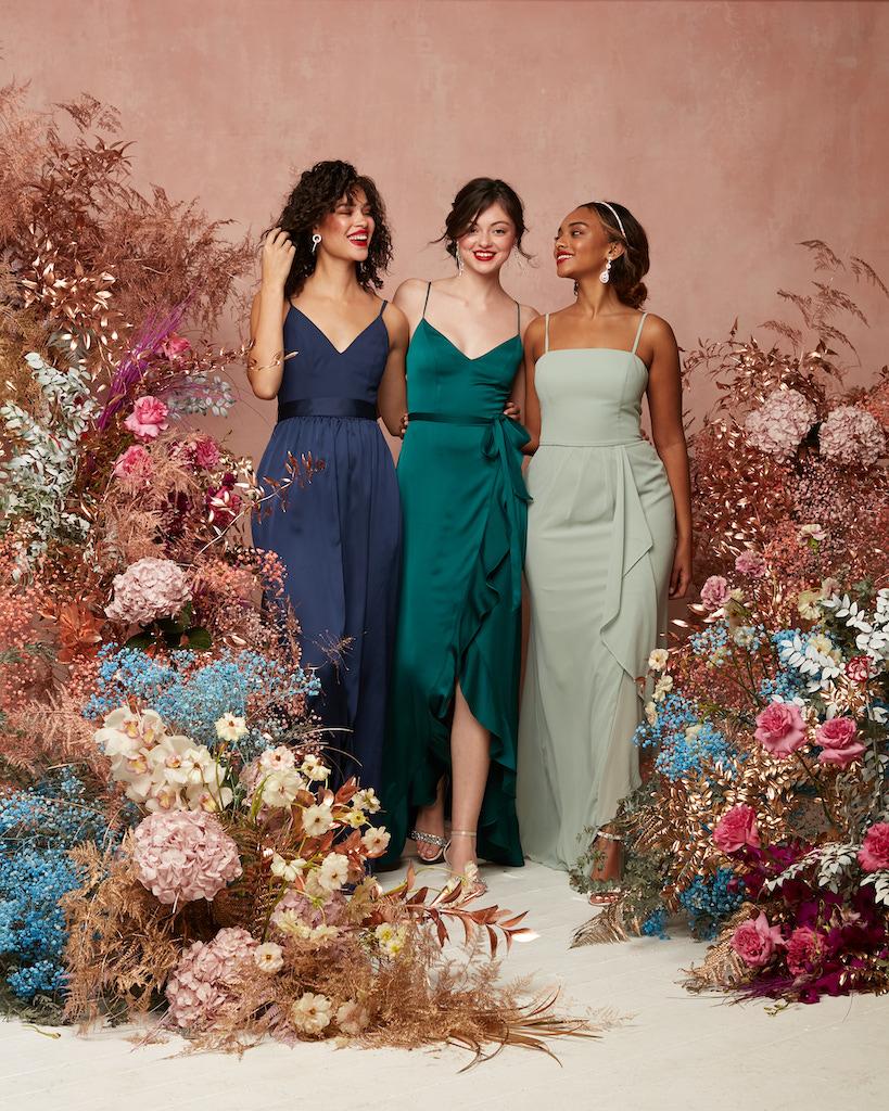 2021 gaun pengiring pengantin dengan tali spaghetti