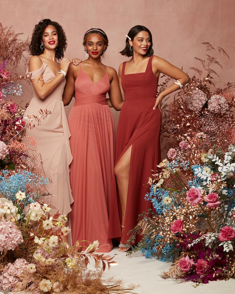 2021 bridesmaid dresses with modern necklines