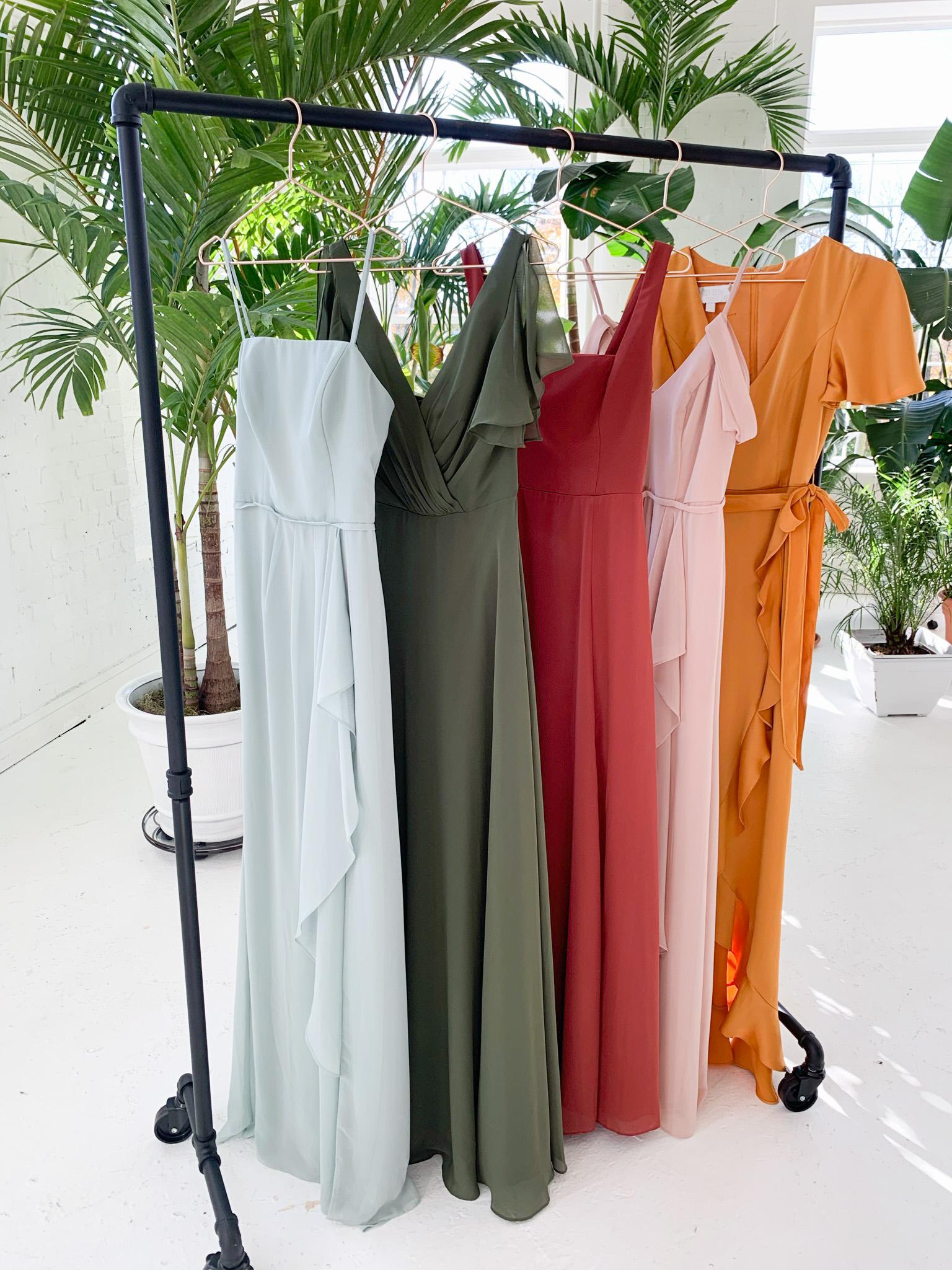 2021 bridesmaid dresses in earth tones