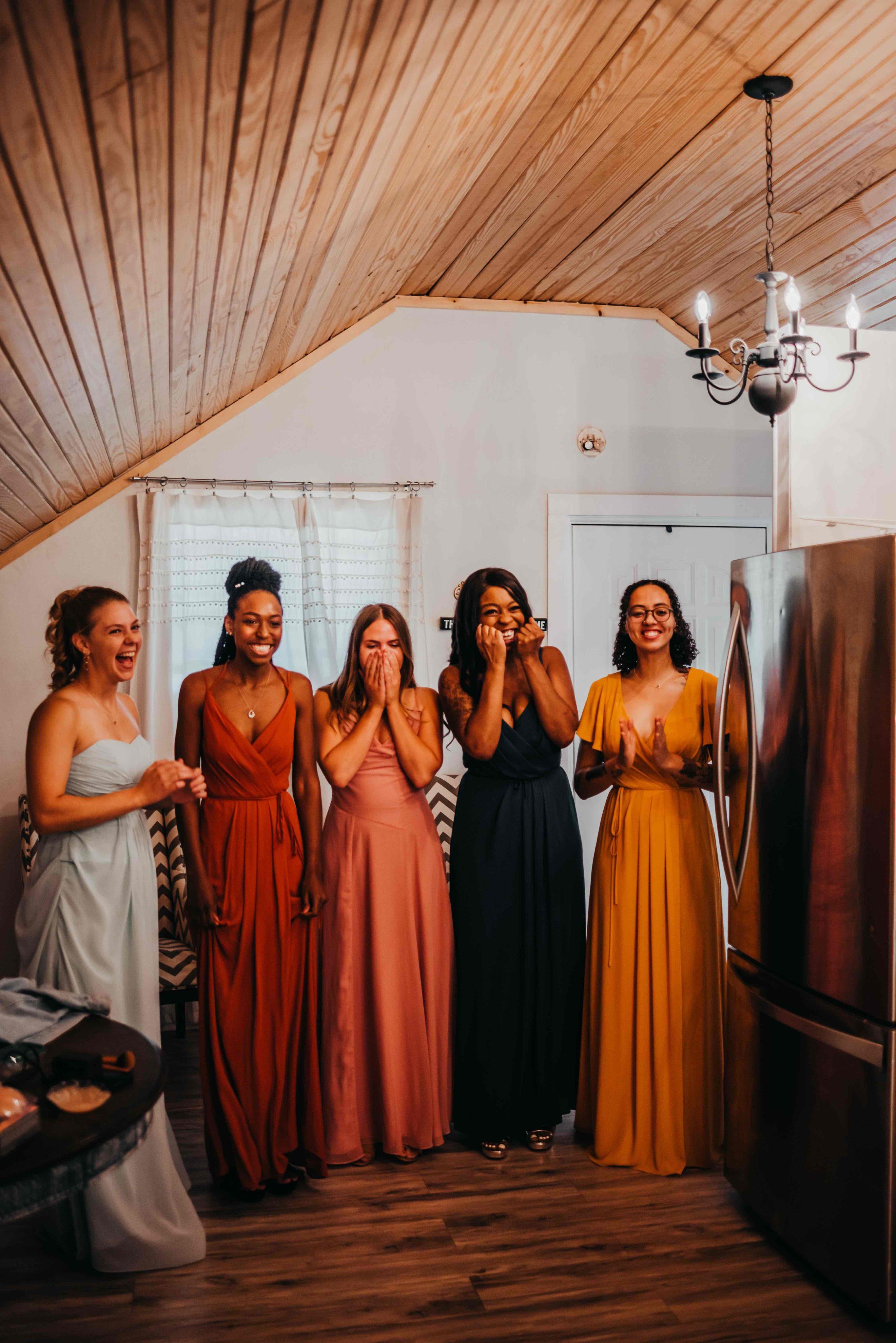 bridesmaid first look
