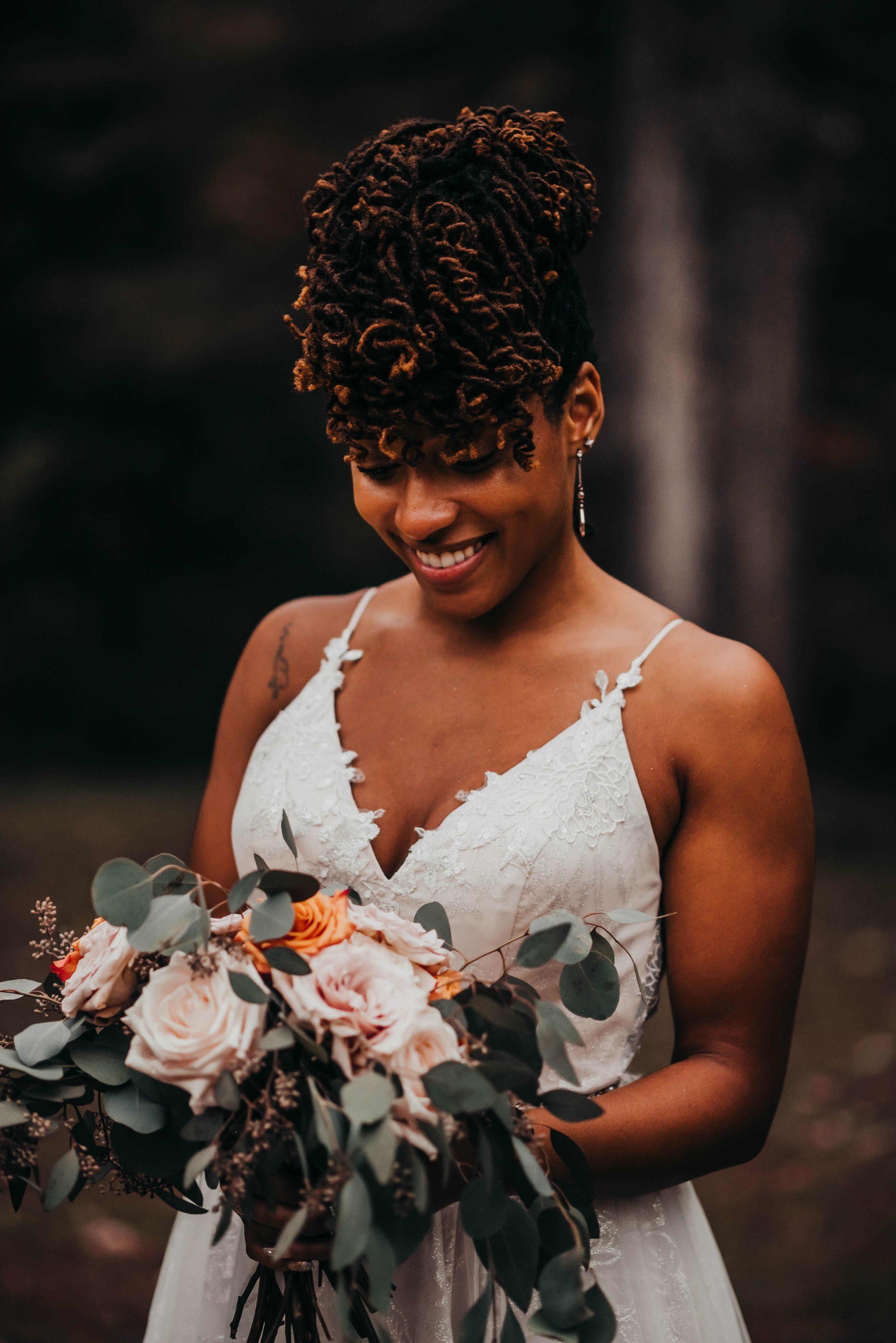 Detail shot of bride's dress