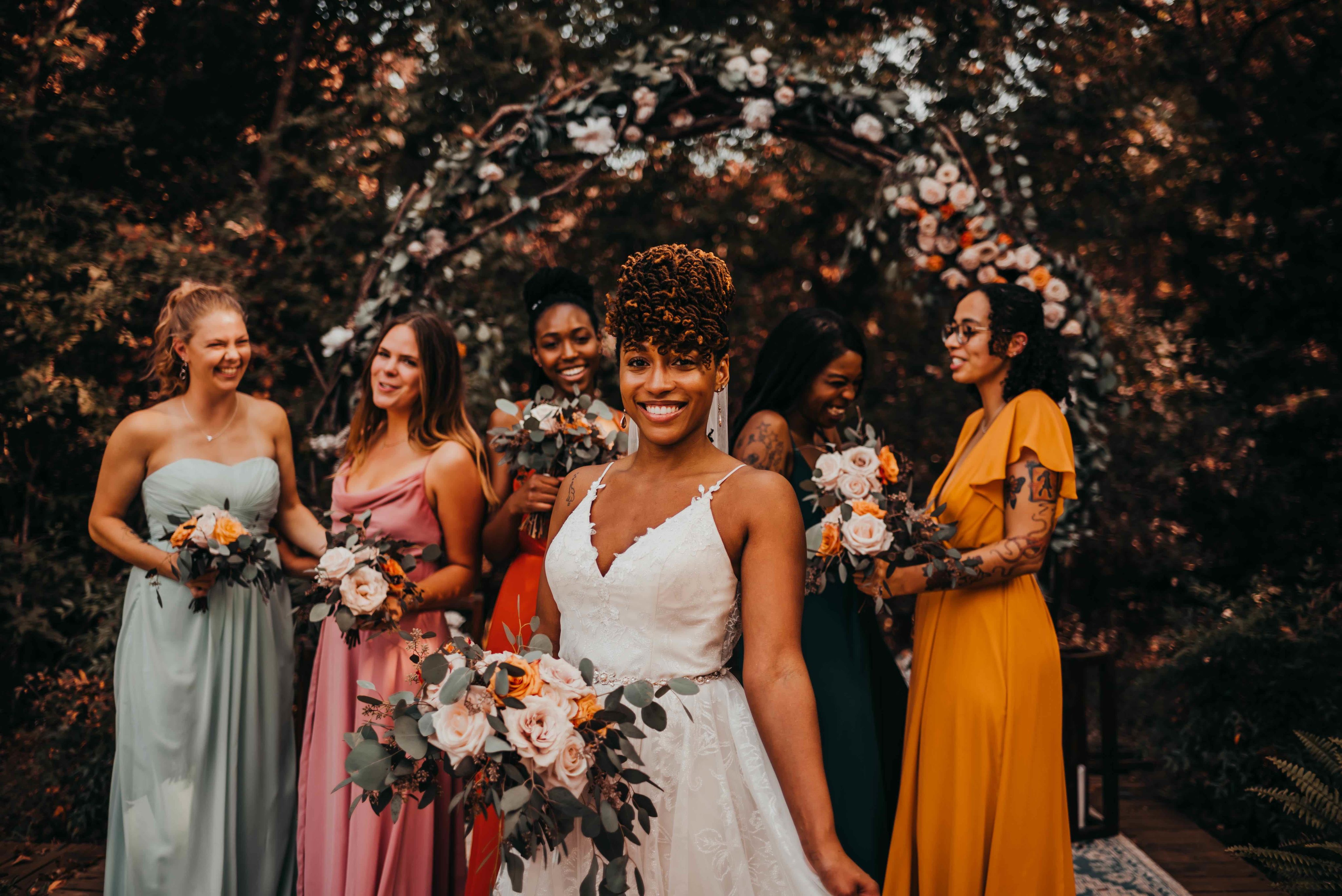 Elle with her bridal party
