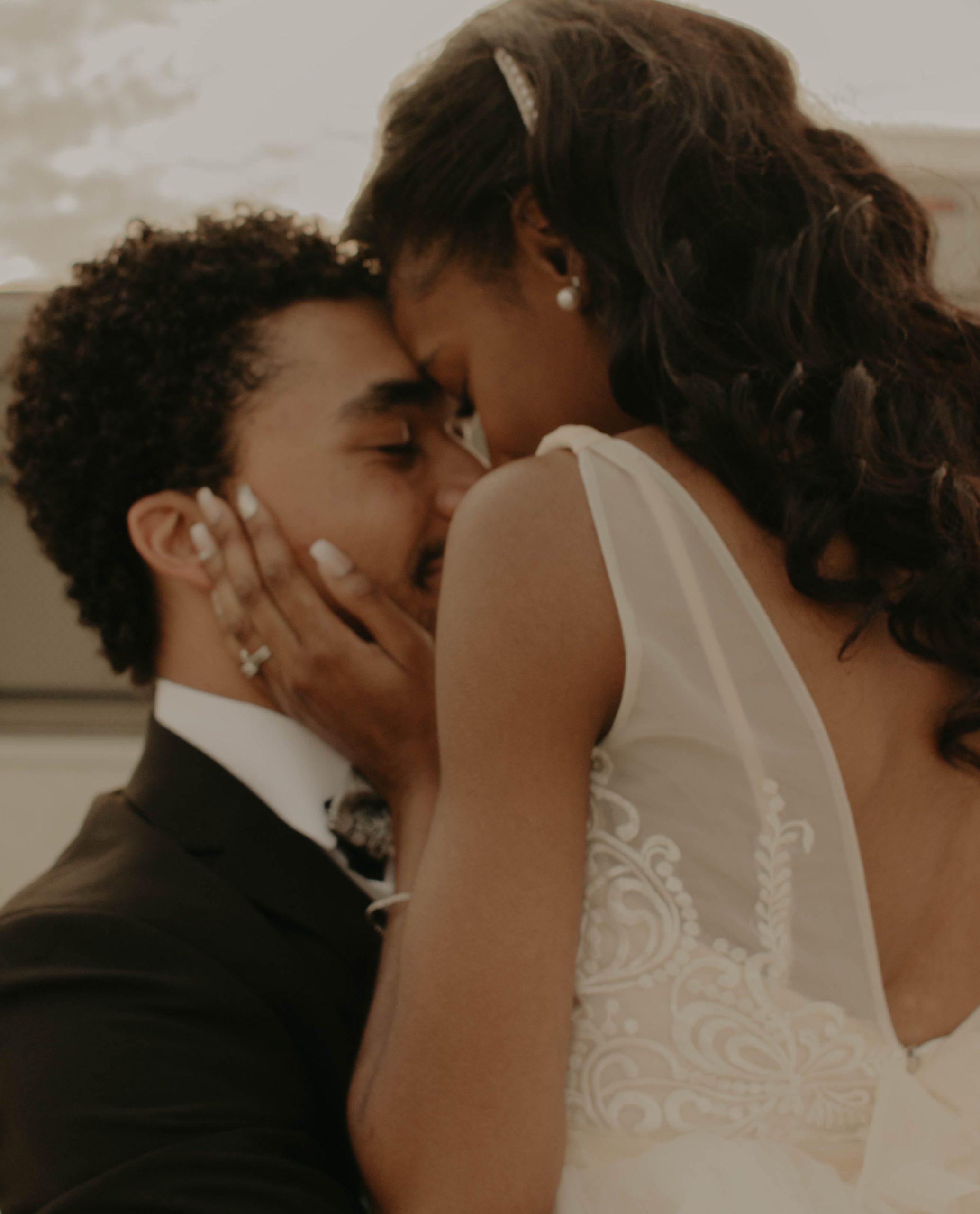 Quiana and Mark Kissing