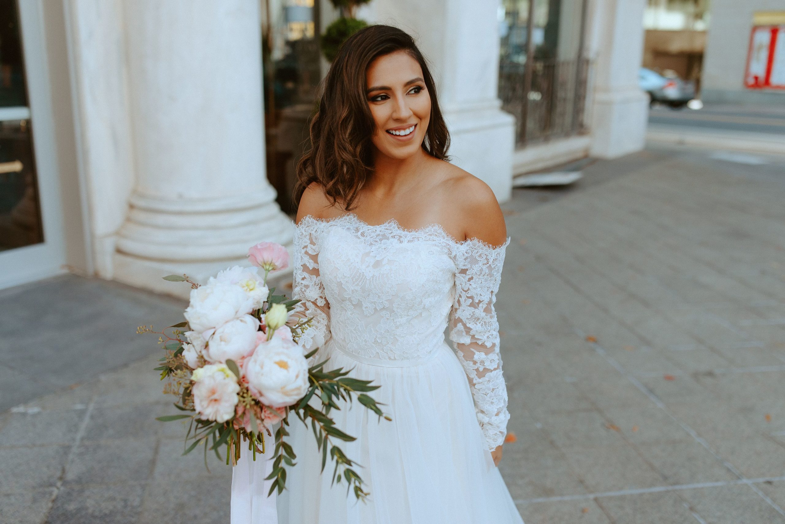 Sabrina in wedding dress style WG4031