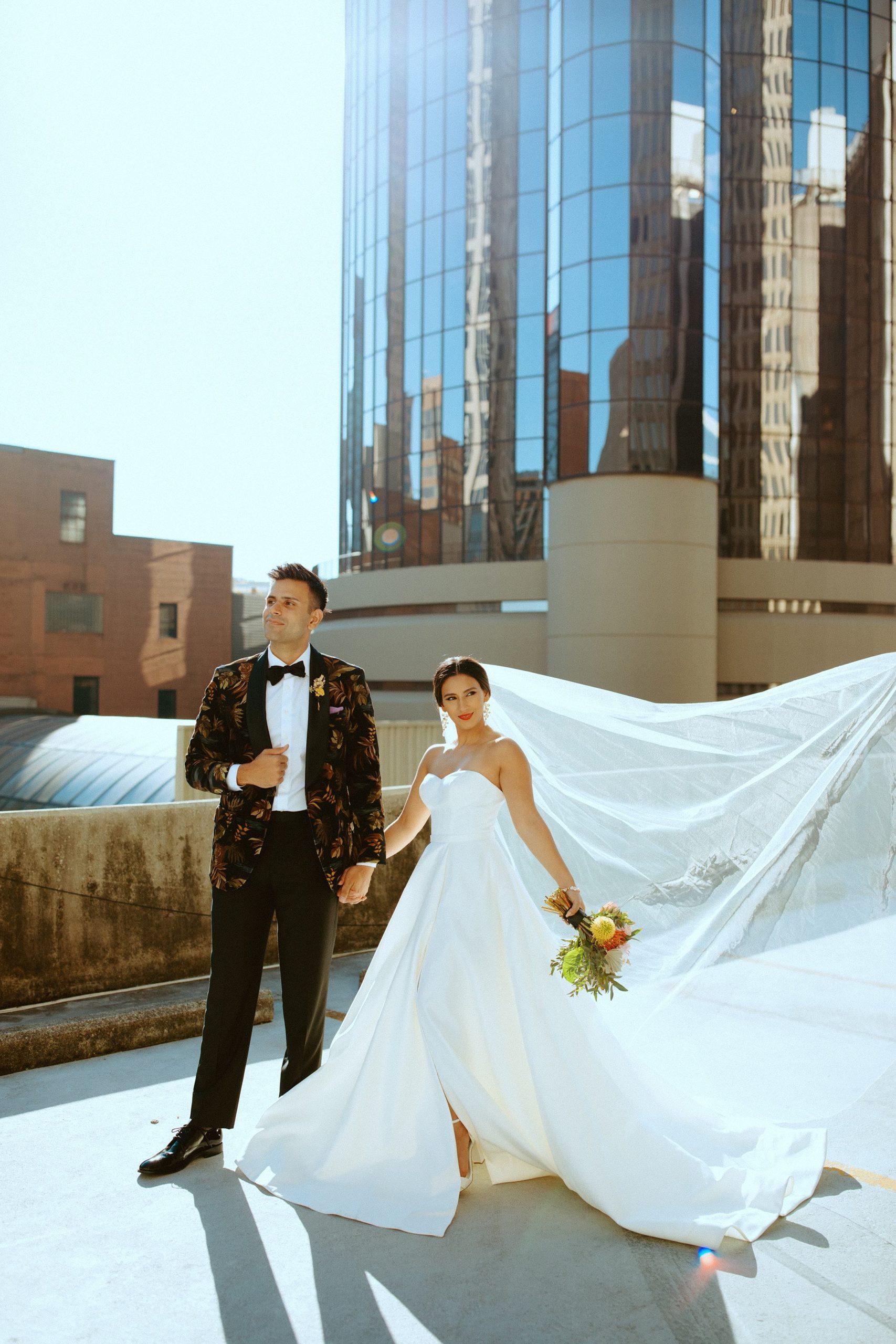 Sabrina and Sahir On Rooftop in Downtown Atlanta