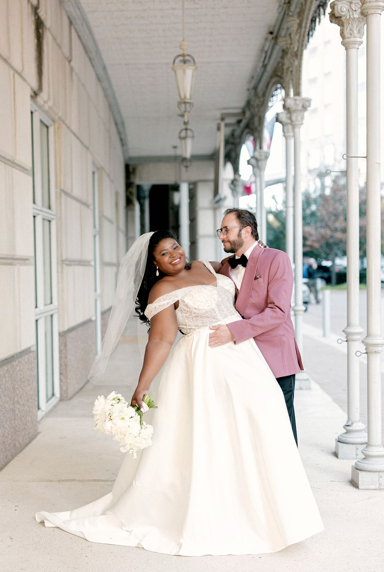 Makeda in style CWG890 with fiance Thomas