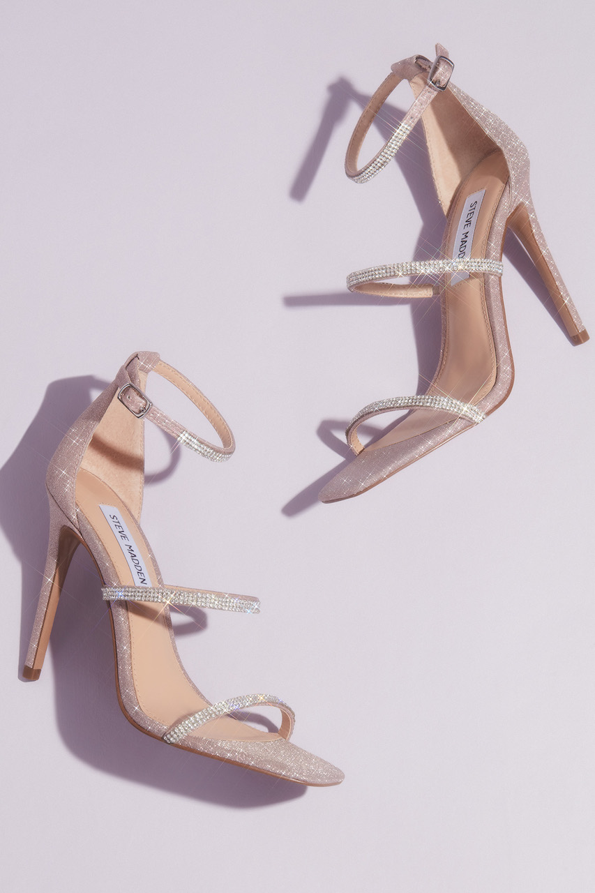 Crystal Strap Stiletto Sandals from steve madden x db wedding shoes collection