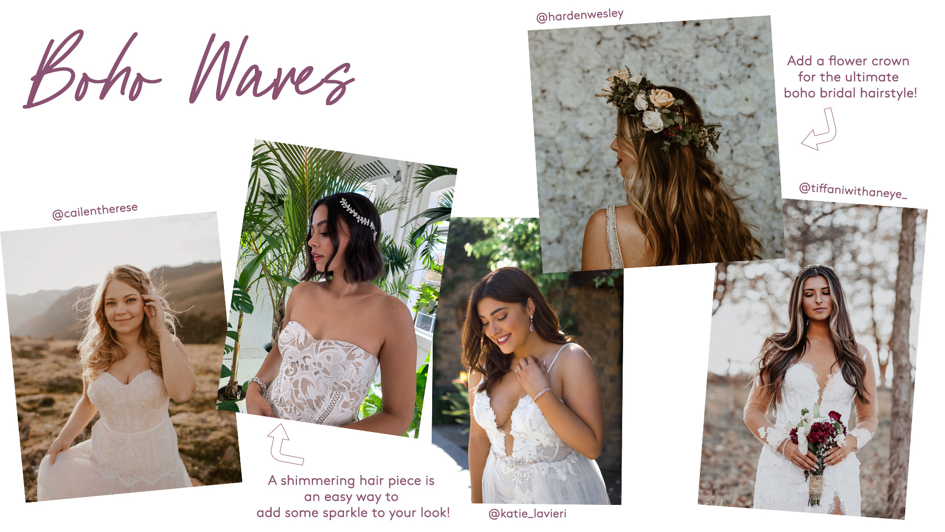 bridal boho waves