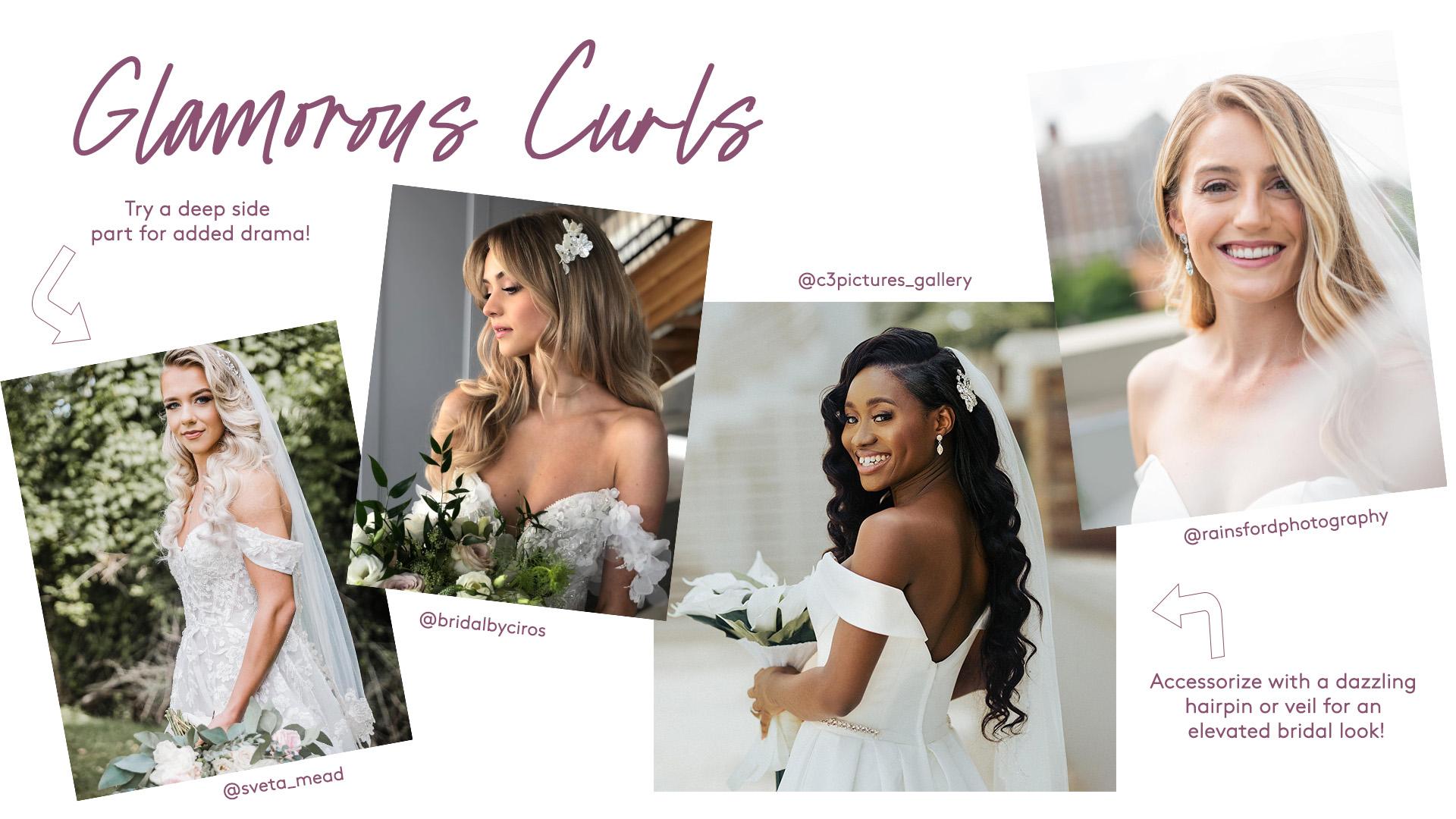 glamorous bridal curls