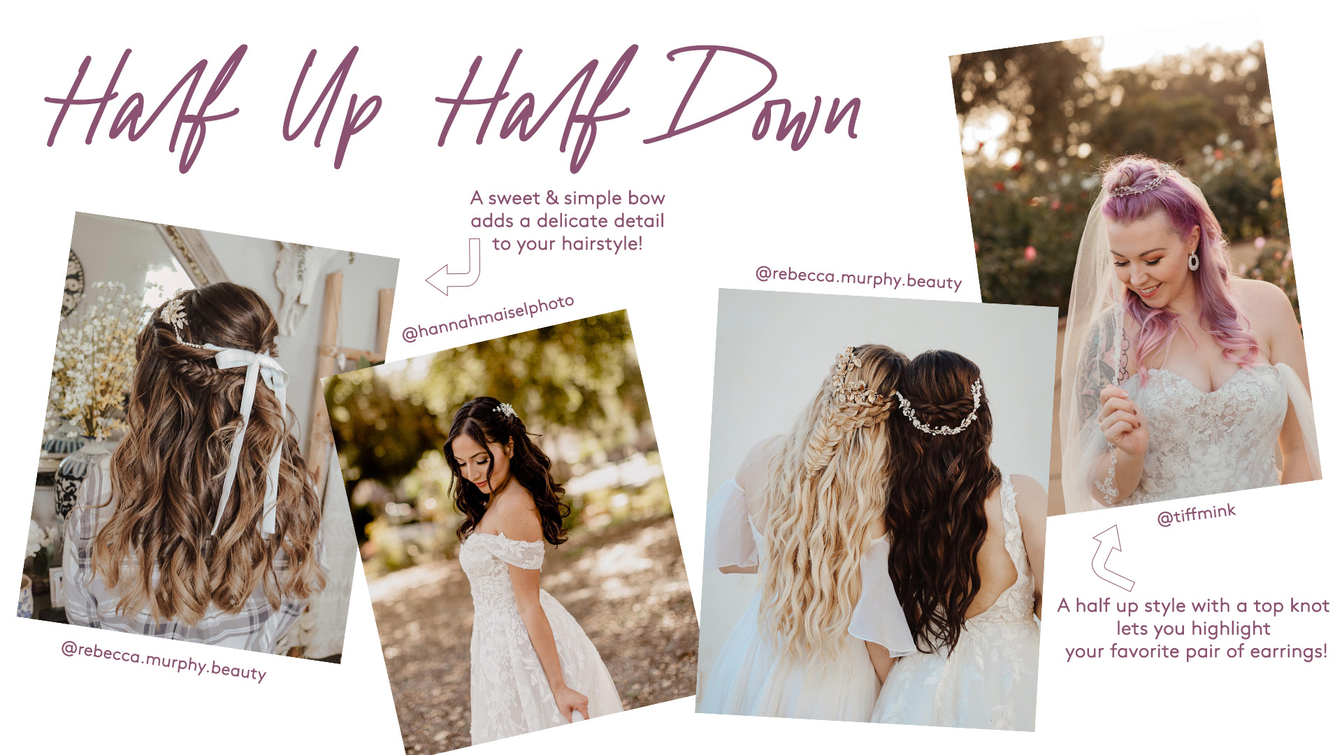 prettiest wedding half up half down hairstyles