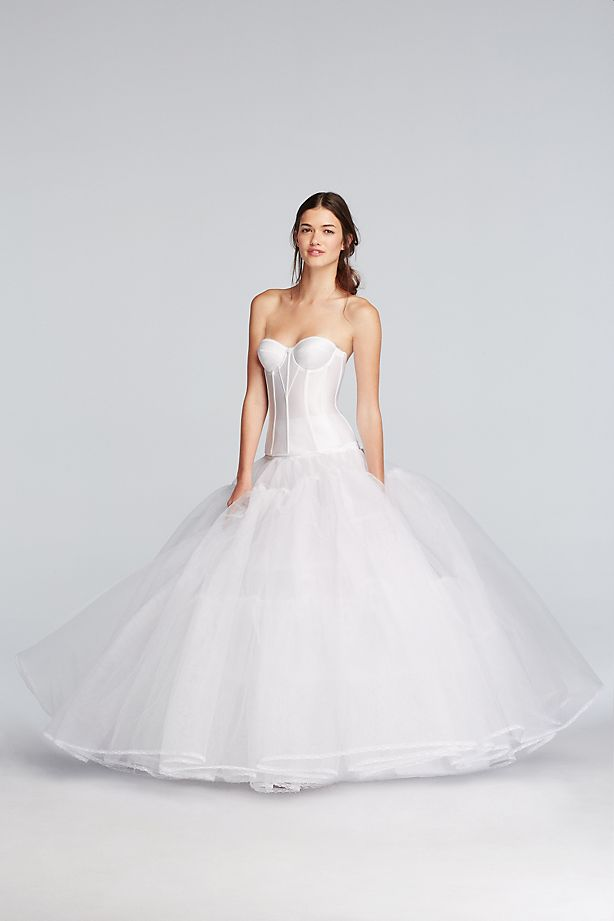 ball gown slip front