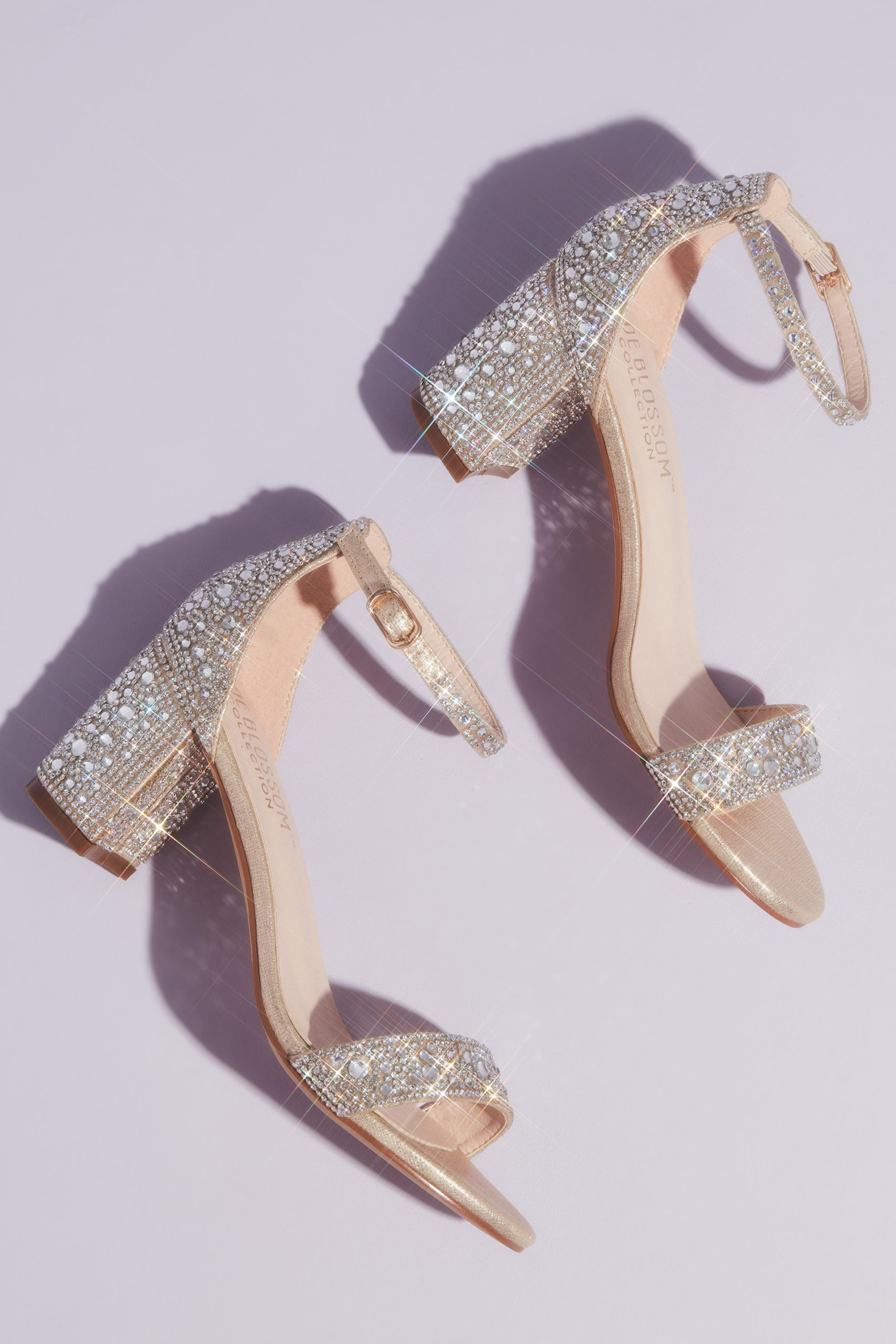 sparkly block heels for your quinceañera
