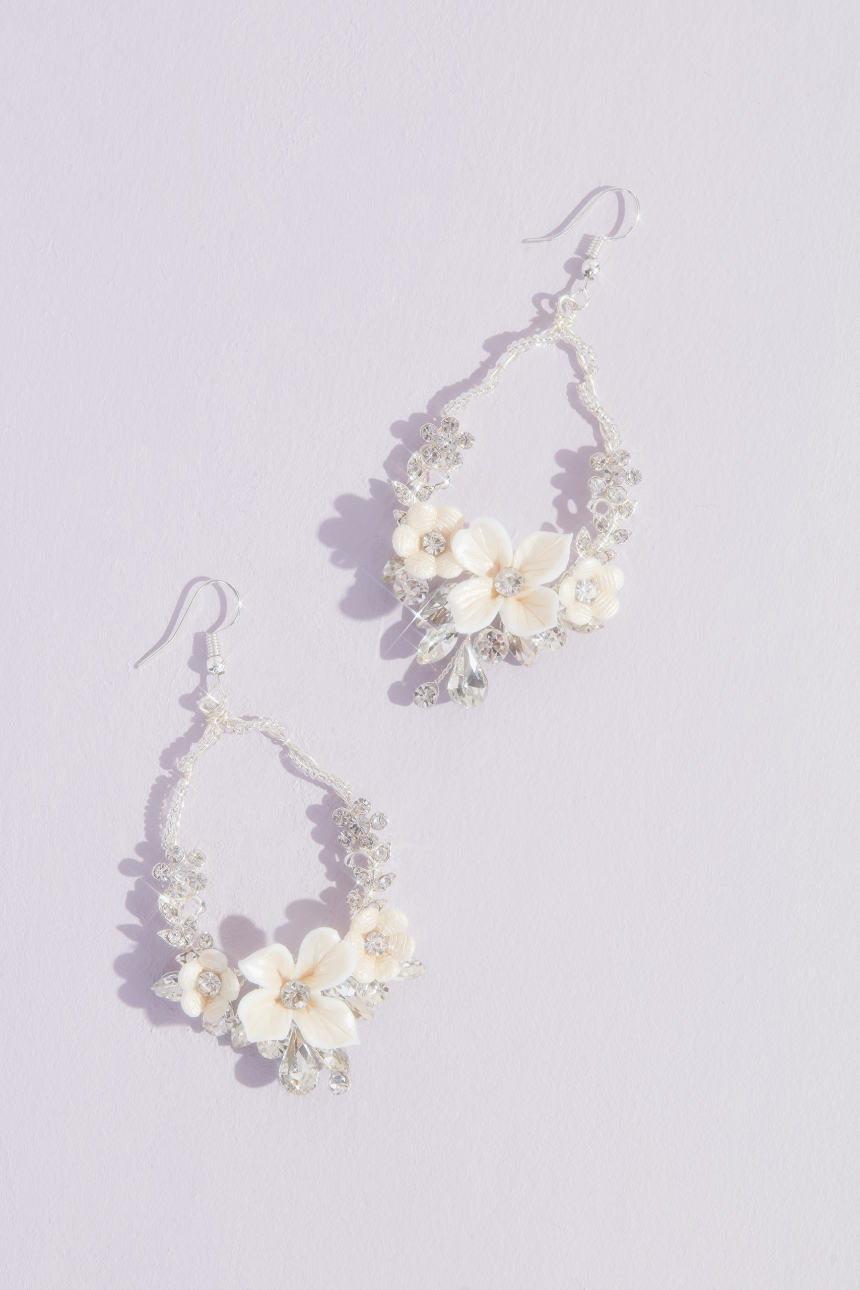 Sparkling Blooms Statement Earrings
