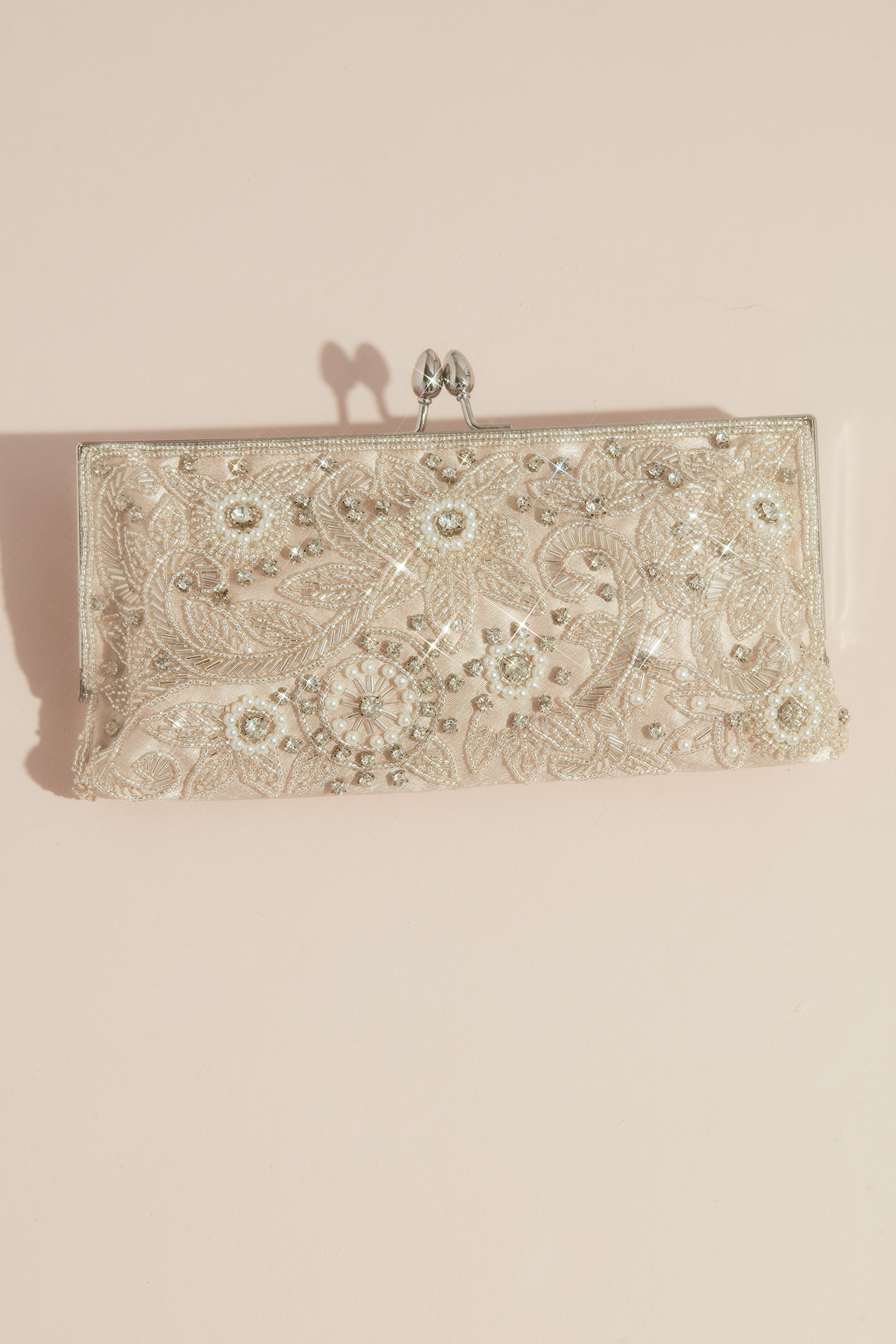 vintage inspired beaded clutch