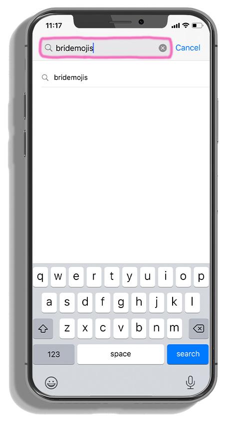 phone searching bridemojis