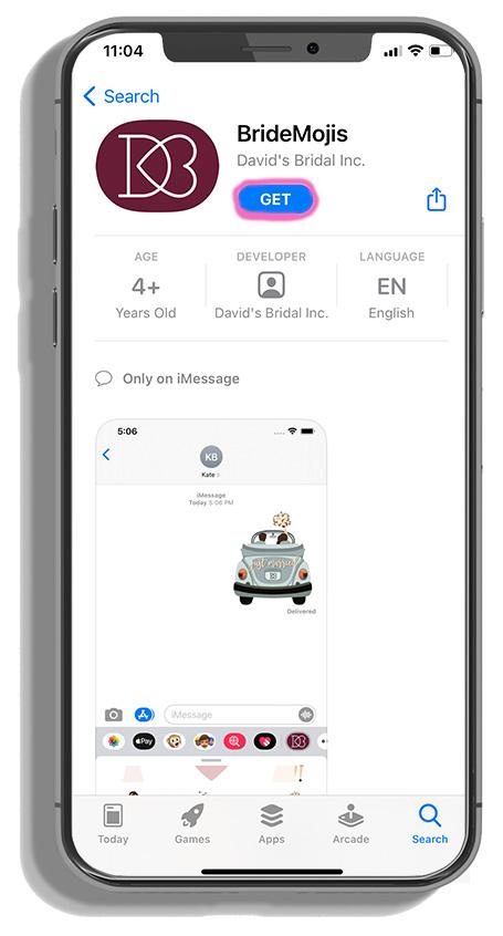 phone downloading bridemojis