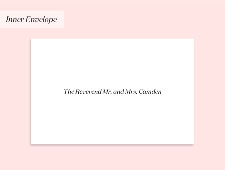 wedding invitation to a reverend & spouse