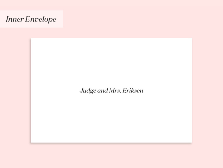 wedding invitation to a judge and spouse