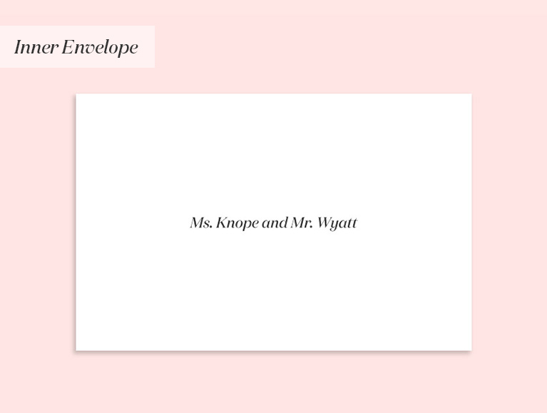 invitation to a married couple with different last names