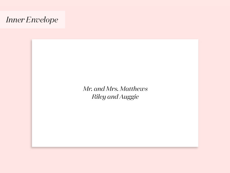 invitation to a married couple & their children