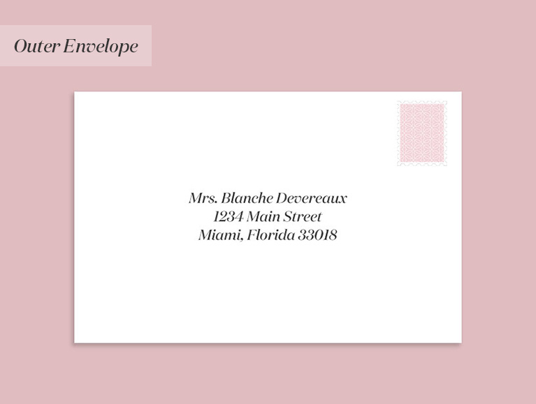 wedding invitation addressed to a widow (with a guest)