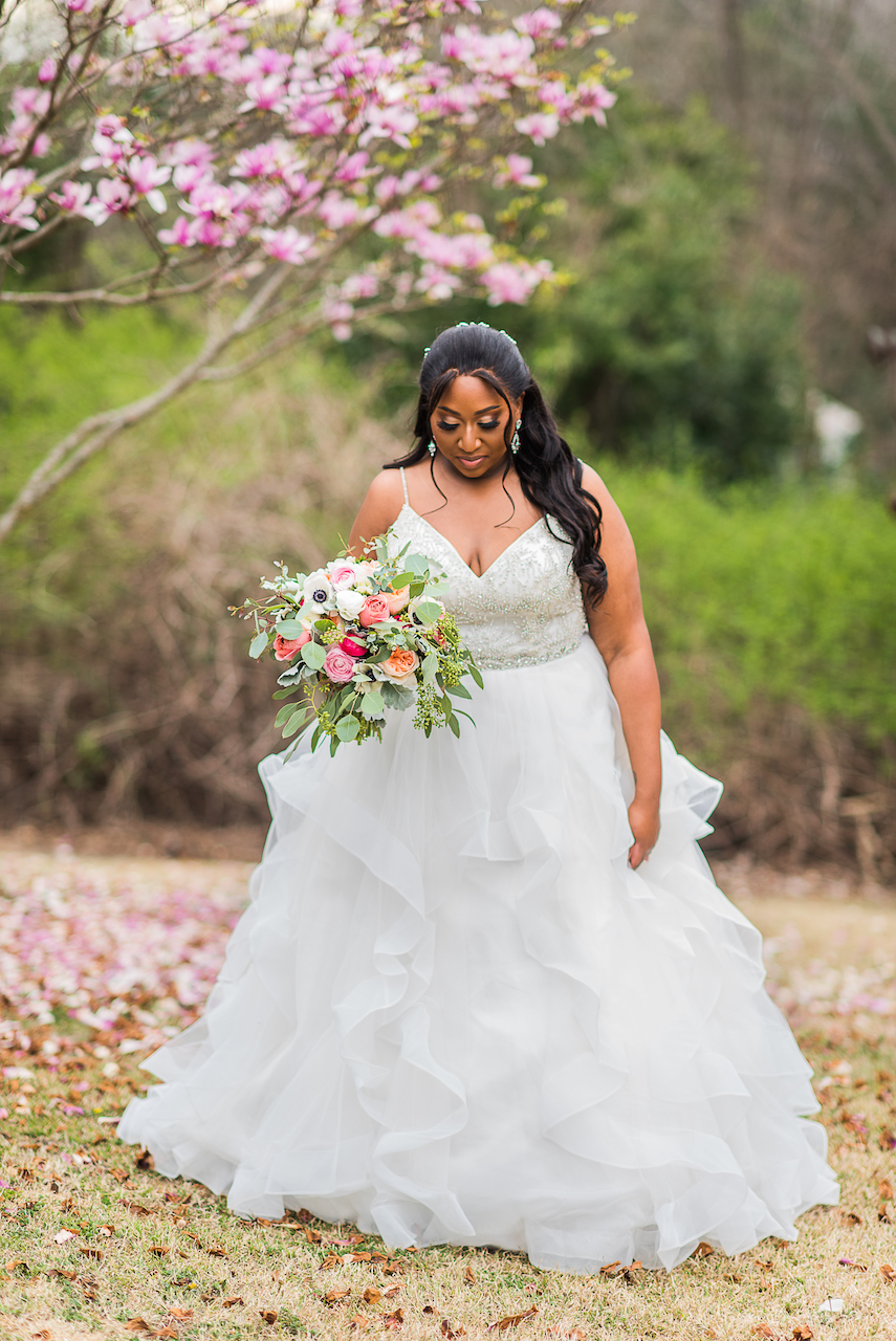 bride wearing ball gown