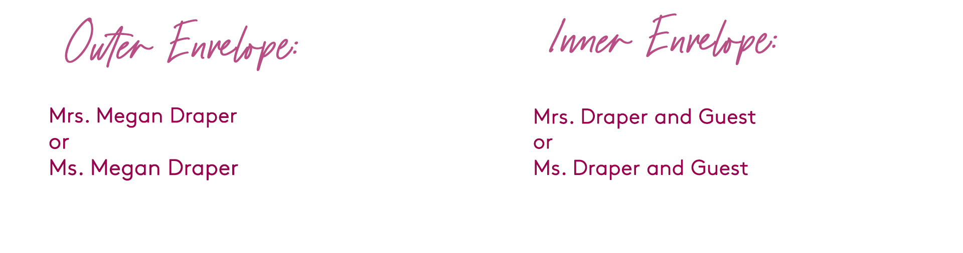 how to address wedding invitation addressed to a divorced woman (with a guest)