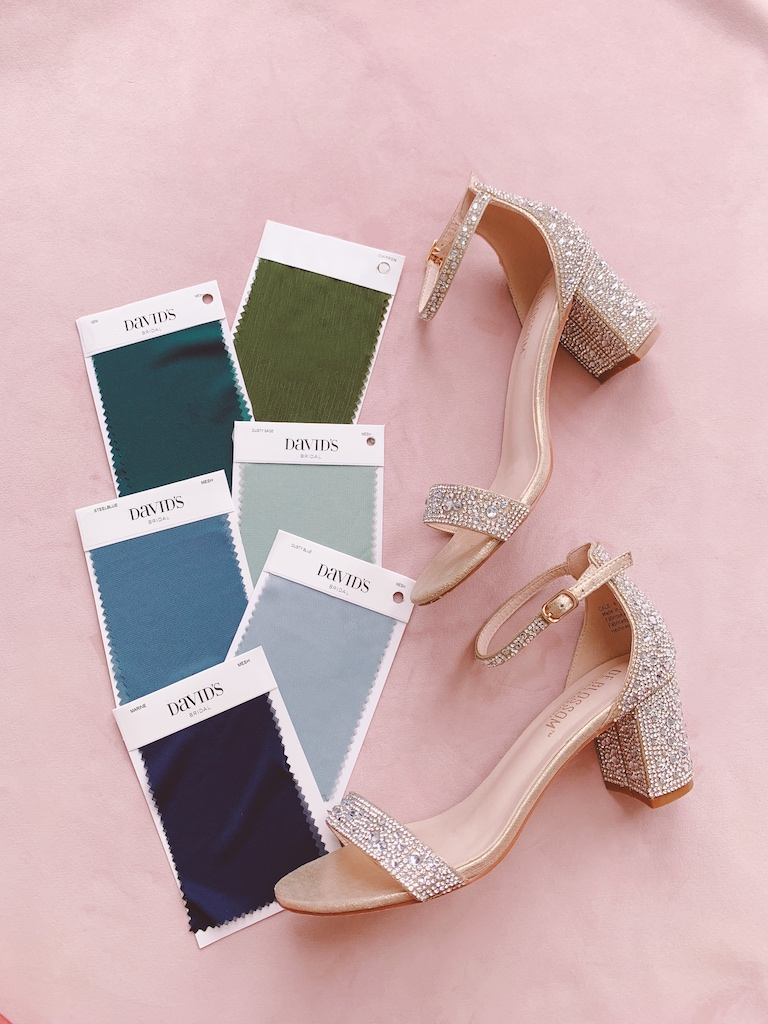 green and blue shoe pairings