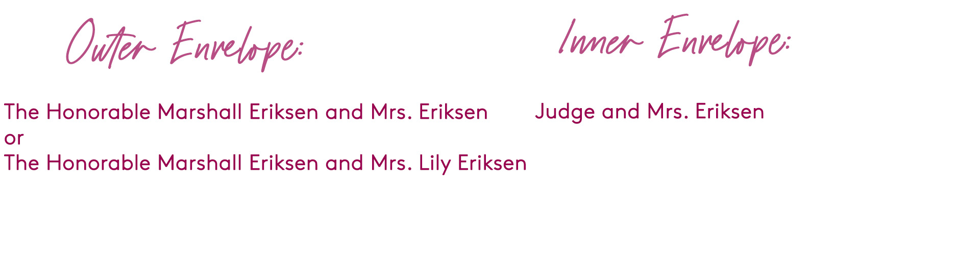 how to address wedding invitation to a judge and spouse