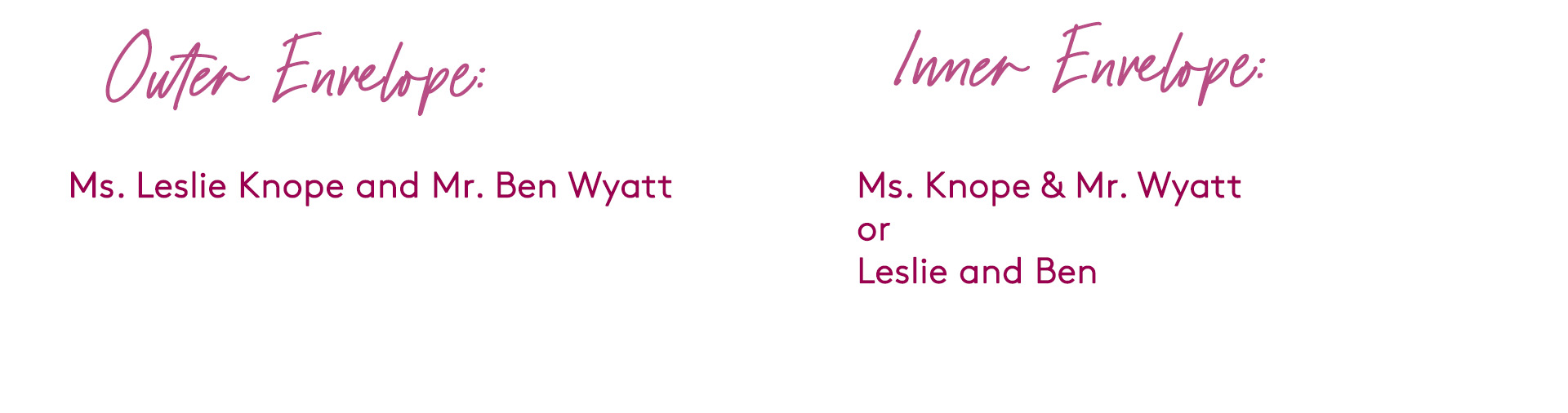 how to address wedding invitation to a married couple with different last names