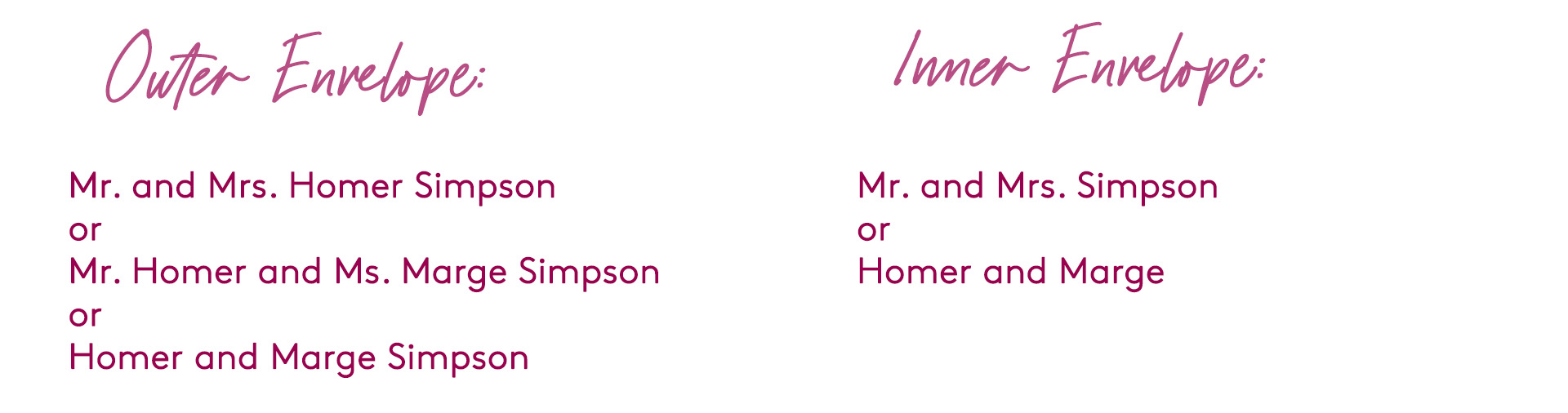 how to address wedding invitations to a married couple