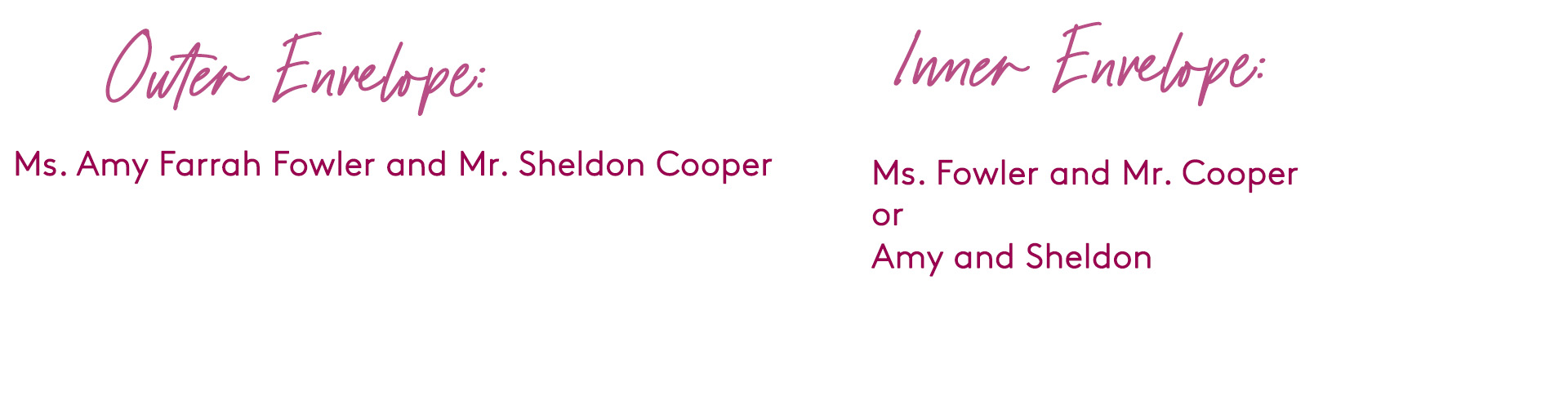 how to address wedding invitation to unmarried couple living together