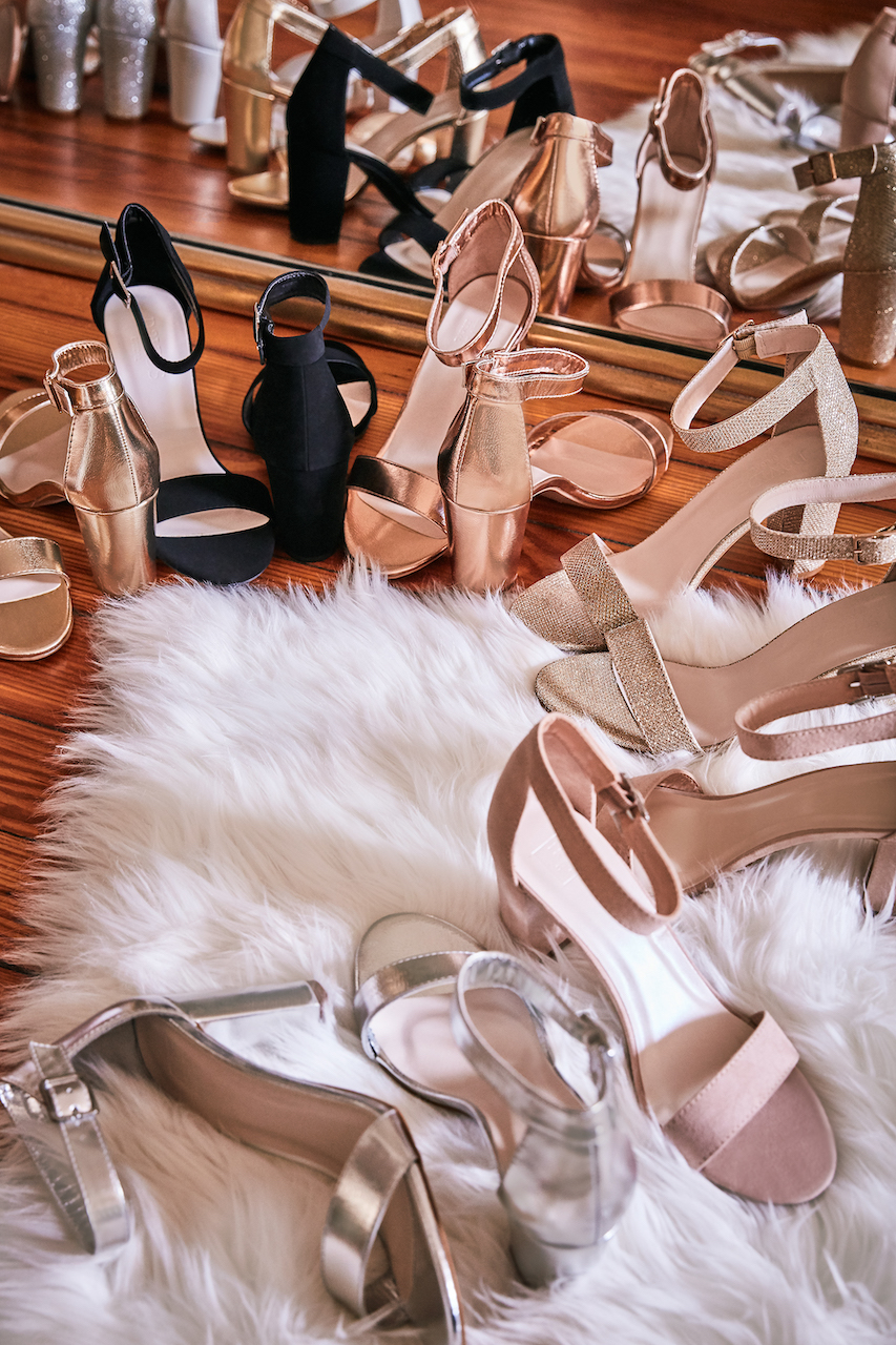 Arya shoes in all different color options for brides