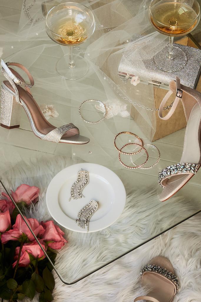crystal coordinated wedding accessories