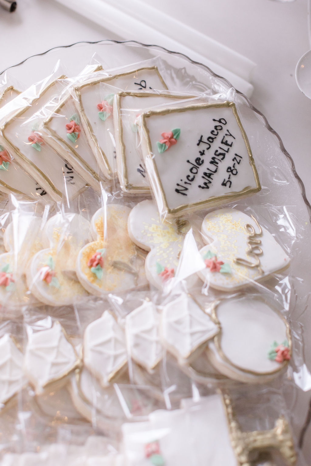 personalized wedding cookies for dreamy springtime wedding