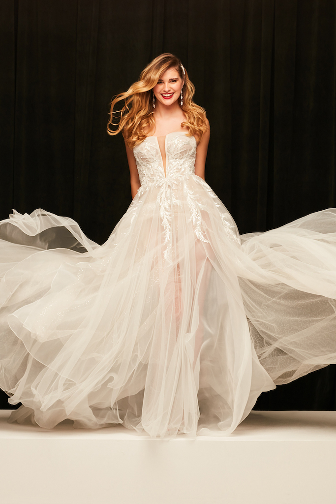 bride wearing ball gown from exclusive bridal brand galina signature