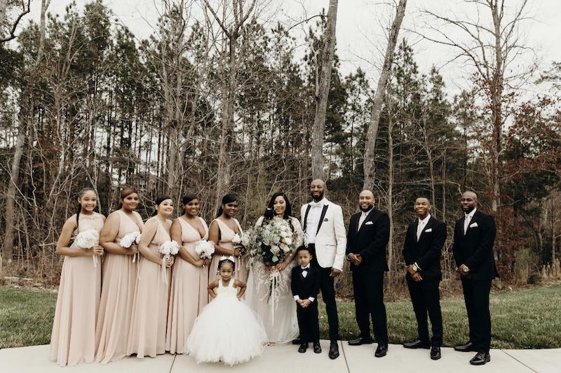 sexy bohemian wedding bridal party