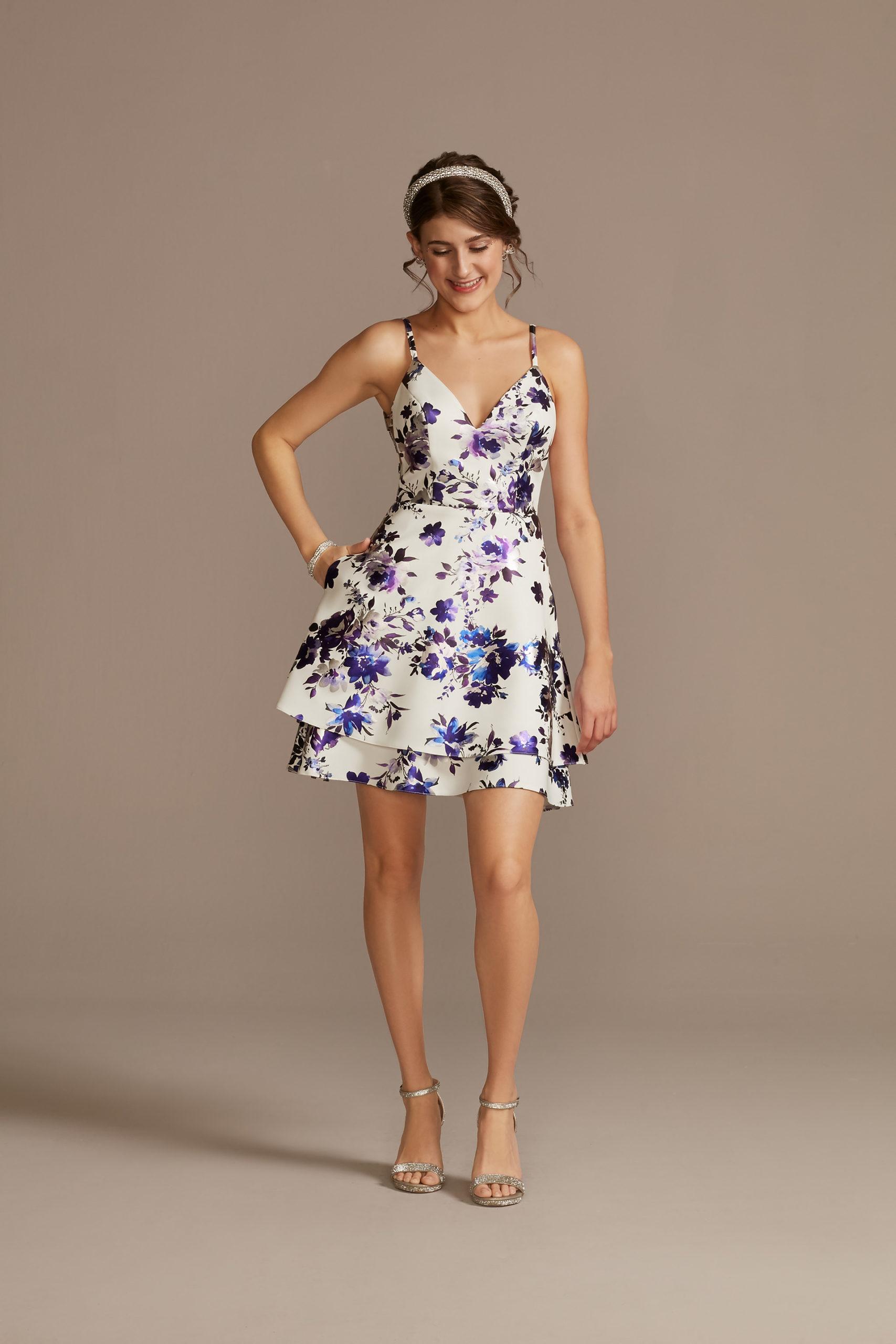 floral skater skirt dress