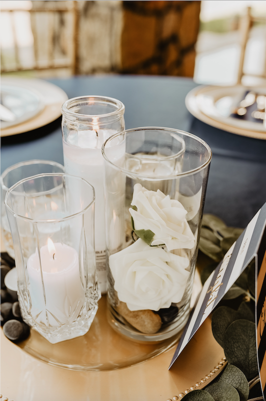 simple and elegant fall wedding tablescape